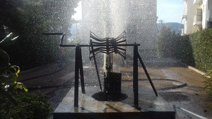 καθαρισμός γεώτρησης νερού